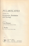 Pulmonates : Volume 2A, Systematics, Evolution and Ecology